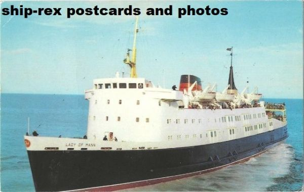 LADY OF MANN (1976, Isle Of Man SP) postcard (d2)